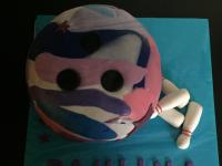 Bowling Ball Cake