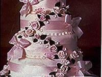 Satin Ribbons Wedding Cake