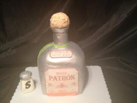 Bottle Cake - Silver Patron