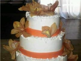 Fondant Ribbons Wedding Cake
