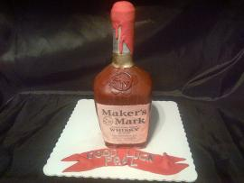 Bottle Cake - Makers Mark