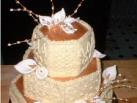Ethnic Pattern Wedding Cake